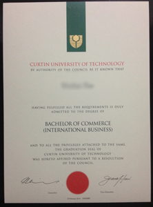 buy fake Curtin University cert